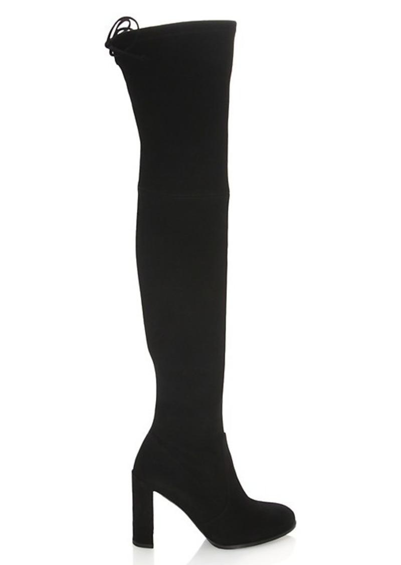Stuart Weitzman Hiline Suede Over-The-Knee Boots