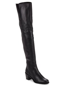 Stuart Weitzman Hitest Over-The-Knee Leather Boots