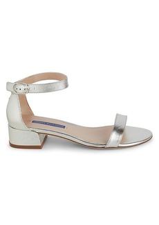 Stuart Weitzman June Metallic Leather Sandals