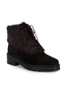 Stuart Weitzman Keepwarm Shearling, Faux Fur & Suede Ankle Boots