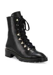 Stuart Weitzman Kolbie Leather Combat Boots