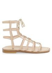 Stuart Weitzman Kora Lace-Up Suede Gladiator Sandals