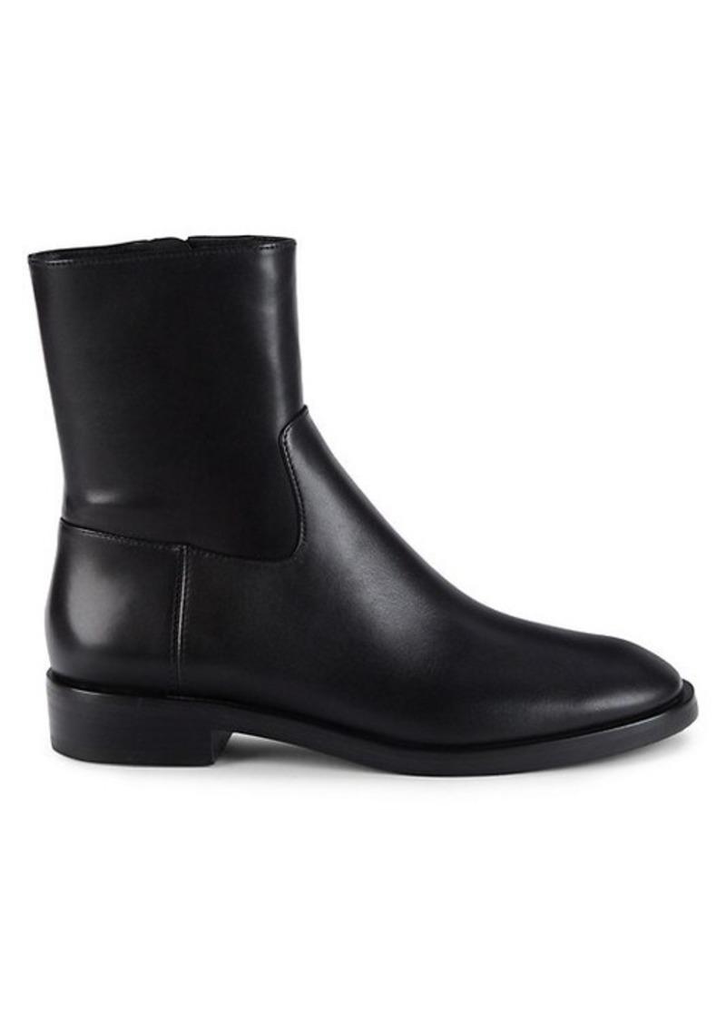 Stuart Weitzman Ky Leather Zip Booties