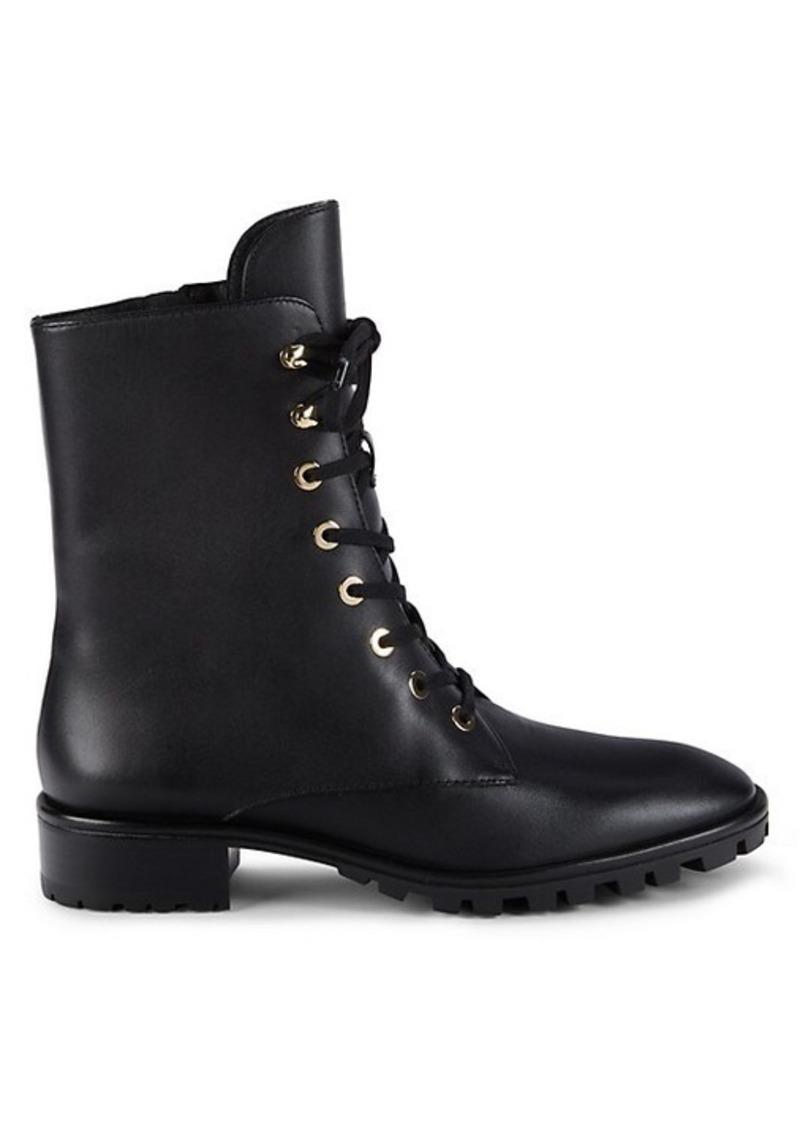 Stuart Weitzman Laine Leather Combat Boots