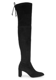 Stuart Weitzman Landmark Over-the-Knee Suede Boots