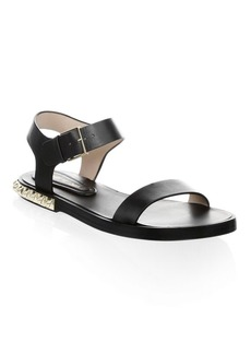 Stuart Weitzman Leather Ankle-Strap Sandals