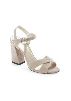 Stuart Weitzman Leather Block Heel Sandals