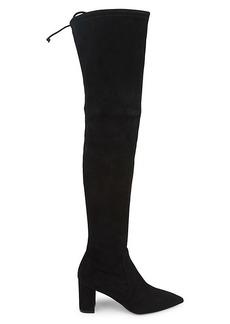 Stuart Weitzman Lesley Suede Over-The-Knee Boots