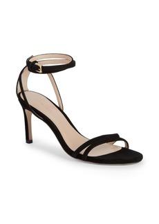 Stuart Weitzman Lexie Ankle-Strap Suede Sandals