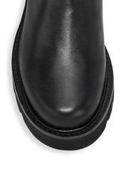 Stuart Weitzman Lift Chain Leather Combat Boots