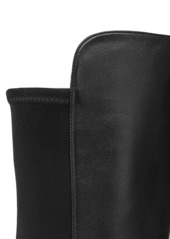 Stuart Weitzman Lift Over-The-Knee Leather Combat Boots