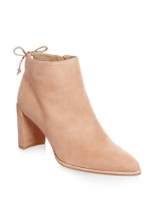 Stuart Weitzman Lofty Leather Block Heel Booties