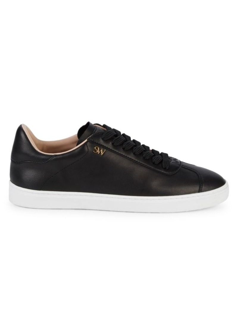 Stuart Weitzman Logo Leather Runners