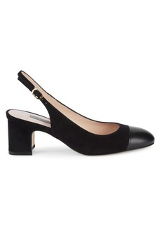 Stuart Weitzman Loraina Leather Slingbacks