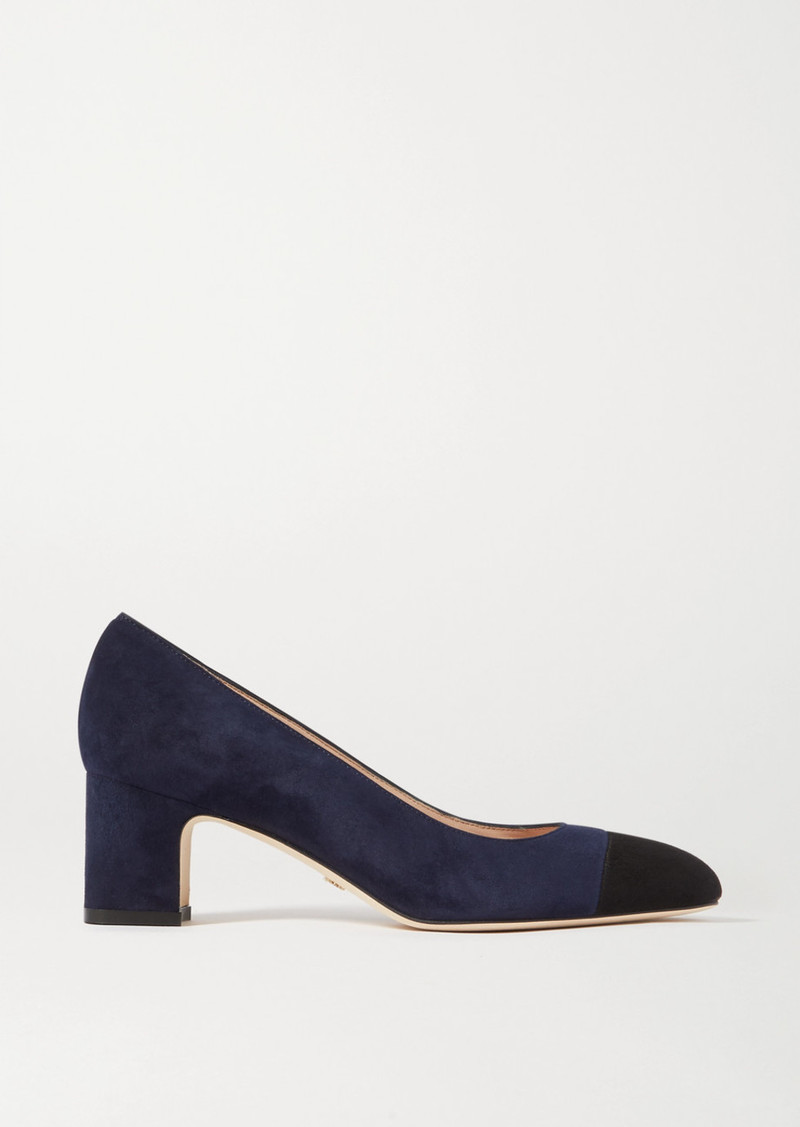 Loriana Two-tone Suede Pumps