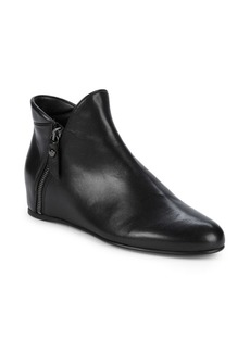 Stuart Weitzman Lowkey Leather Hidden Wedge Heel Boots