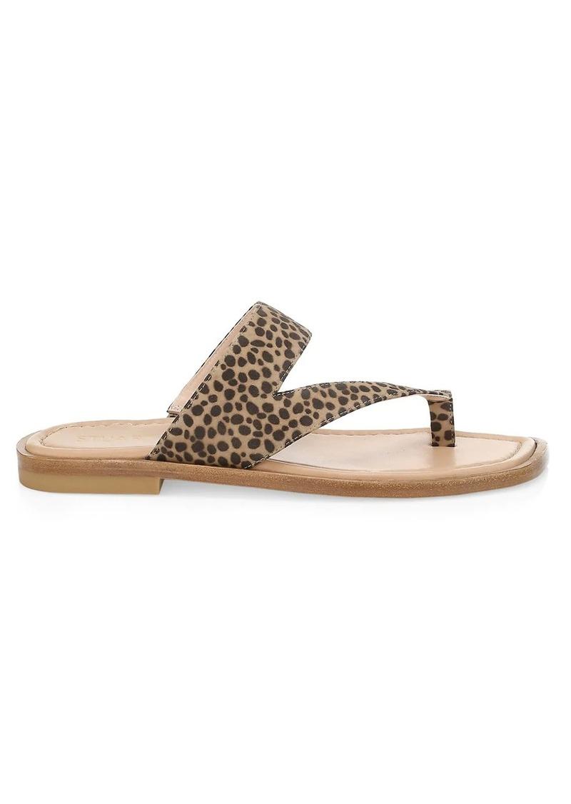 Stuart Weitzman Lyla Leopard-Print Flat Sandals