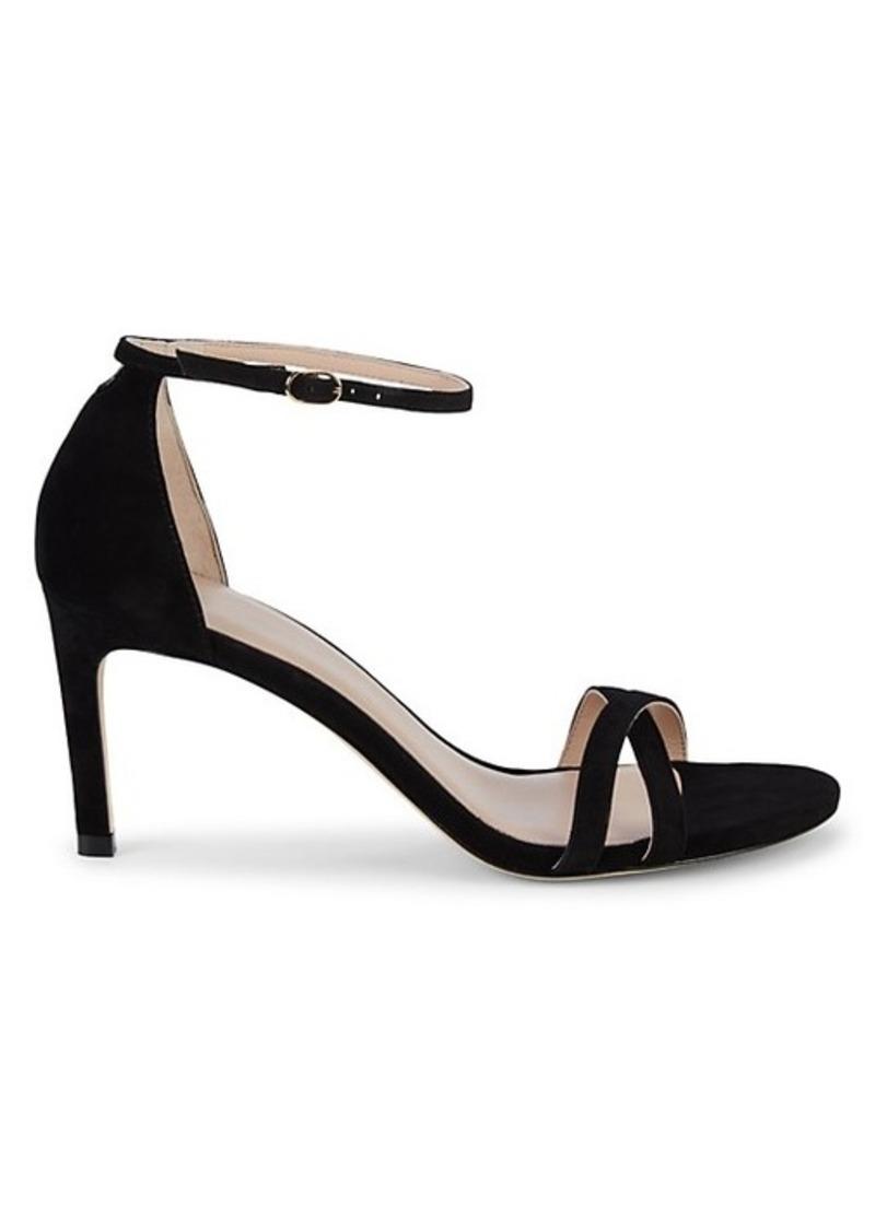Stuart Weitzman Lynette Suede Stiletto Sandals