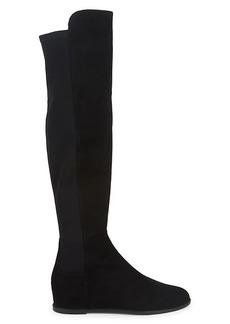 Stuart Weitzman Mainline Hidden Wedge Knee-High Boots