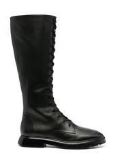 Stuart Weitzman McKenzee leather combat boots