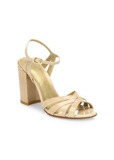 Stuart Weitzman Memoir Aniline Leather Ankle Strap Sandals