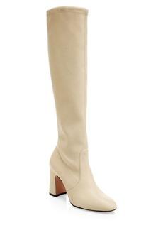 Stuart Weitzman Milla Leather Block Heel Tall Boots