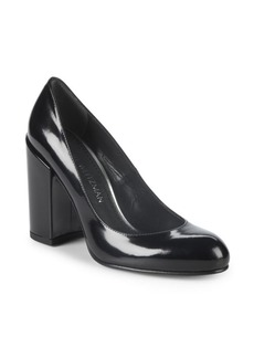 Stuart Weitzman Moda Block Heel Leather Pump