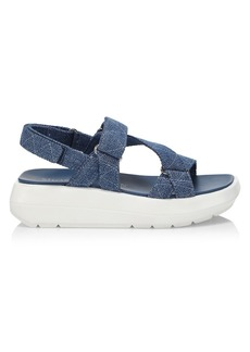 Stuart Weitzman Moxie Denim Sport Sandals