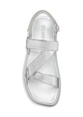 Stuart Weitzman Moxie Metallic Sport Sandals