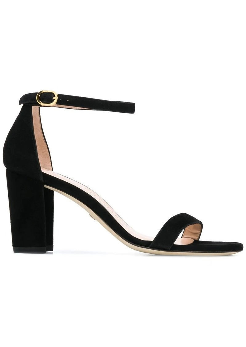 Stuart Weitzman Nearlynude 80mm suede sandals