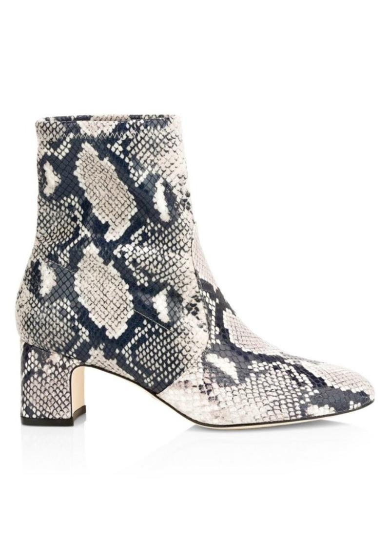 Stuart Weitzman Niki Snake-Embossed Sock Boots