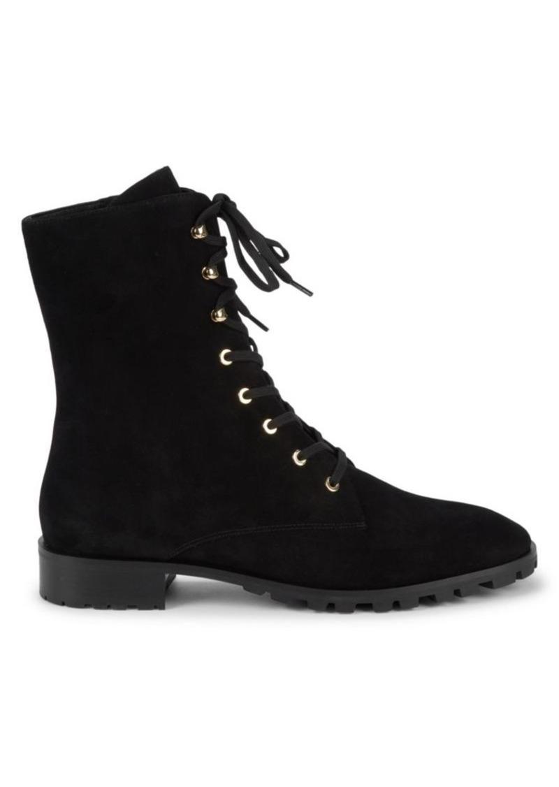 Stuart Weitzman Norrie Leather Combat Boots