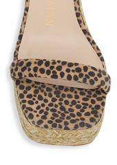 Stuart Weitzman Nudist Leopard-Print Espadrille Wedge Sandals