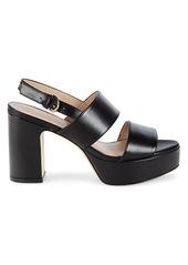 Stuart Weitzman Ono Leather Platform Sandals