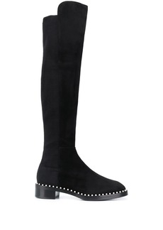 Stuart Weitzman pearl embellished over-the-knee boots