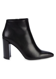Stuart Weitzman Pure Leather Block-Heel Booties