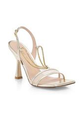 Stuart Weitzman Roxanna Chain-Detail Mesh & Metallic Leather High-Heel Sandals
