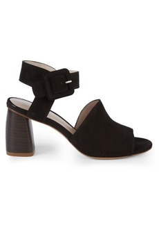 Stuart Weitzman Savvy Side-Buckle Leather Sandals