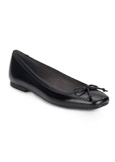 Stuart Weitzman Shoestring Patent Leather Ballet Flats