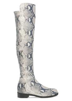 Stuart Weitzman Snakeskin-Print Leather Over-The-Knee Boots