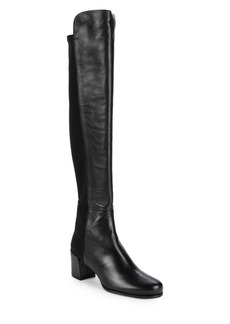 Stuart Weitzman Stand Stretch Back Over-The-Knee Boots
