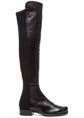 Stuart Weitzman 50/50 Leather & Neoprene Boots