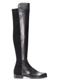 Stuart Weitzman 5050 Over-The-Knee Boots, Black Nappa Leather, Size: 11.5 Medium