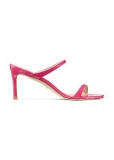 Stuart Weitzman Aleena 75 Sandals, Peonia Hot Pink Patent Leather, Size: 8.5 Narrow