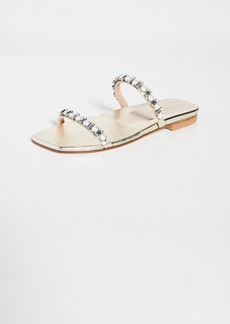 Stuart Weitzman Aleena Shine Flat Sandals