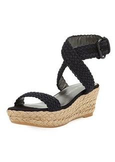 Stuart Weitzman Alexlo Woven Wedge Sandal