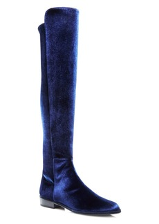 Stuart Weitzman Allgood Velvet Over-the-Knee Boots
