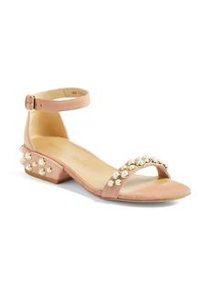 Stuart Weitzman Allpearls Ankle Strap Sandal (Women)