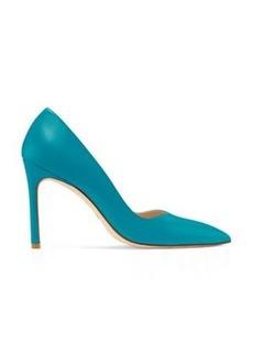 Stuart Weitzman Anny Pumps, Caribe Bright Blue Leather, Size: 8.5 Medium