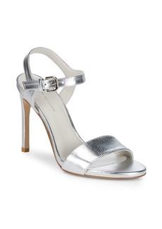 Stuart Weitzman Aperitif Metallic Leather Sandals